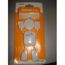 USB HUB USB-хаб 4 port разветвитель Человечек USB 2.0