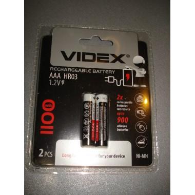 Аккумулятор Videx R03 1100 mAh (2 шт.)