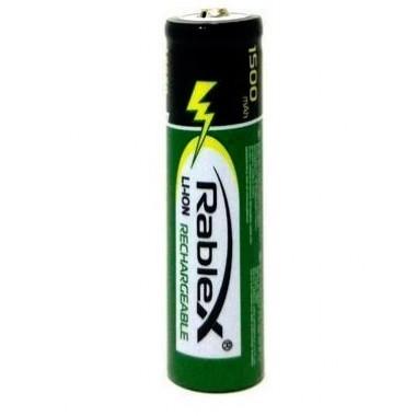Аккумулятор Rablex 18650 Li-Ion 1500mAh (тестовая емкость 1100 mAh) (без защиты) (1 шт.)